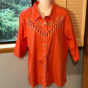 Bob Mackie Wearable Art CL Top Blouse
